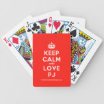 [Crown] keep calm and love pj  Playing Cards