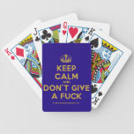 [Dancing crown] keep calm and don't give a fuck  Playing Cards