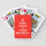 [Cupcake] keep calm its your birthday  Playing Cards