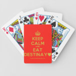 [Crown] keep calm and eat destinay♥  Playing Cards