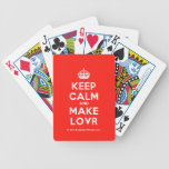 [Crown] keep calm and make lovr  Playing Cards