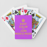 [Smile] keep calm and join moko.mobi  Playing Cards