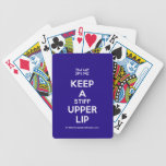 [UK Flag] keep a stiff upper lip  Playing Cards