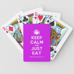 [Cutlery and plate] keep calm and just eat  Playing Cards
