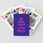 [Dancing crown] keep calm and love music  Playing Cards