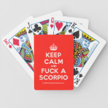 [Crown] keep calm and fuck a scorpio  Playing Cards