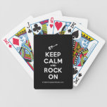 [Electric guitar] keep calm and rock on  Playing Cards