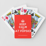 [Crown] keep calm and eat popsick  Playing Cards