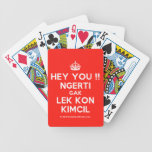 [Crown] hey you !! ngerti gak lek kon kimcil  Playing Cards