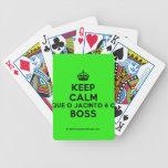 [Crown] keep calm que o jacinto é o boss  Playing Cards