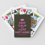 [Two hearts] keep calm and love sheyanne  Playing Cards
