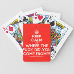 [Crown] keep calm and where the fuck did you come from?!  Playing Cards
