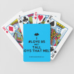 [Two hearts] i #love b5 hot tall boys that melt  Playing Cards