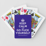 [Crown] keep calm and go fuck yourself  Playing Cards