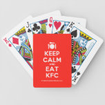 [Cutlery and plate] keep calm and eat kfc  Playing Cards