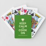 [Chef hat] keep calm and cook on  Playing Cards