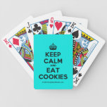 [Crown] keep calm and eat cookies  Playing Cards