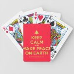[Xmas tree] keep calm and make peace on earth  Playing Cards