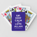 [No Crown] keep calm and love allah  Playing Cards