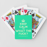 [Crown] keep calm and what the fuck?  Playing Cards