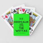 [UK Flag] keepcalm and love the wettas  Playing Cards
