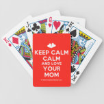[Two hearts] keep calm calm and love your mom  Playing Cards