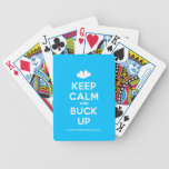 [Two hearts] keep calm and buck up  Playing Cards