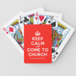 [Crown] keep calm and come to church  Playing Cards