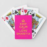 [Crown] keep calm and love shareya  Playing Cards