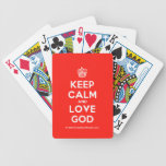 [Cupcake] keep calm and love god  Playing Cards