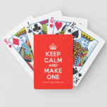 [Crown] keep calm and make one  Playing Cards