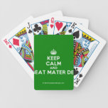 [Crown] keep calm and beat mater dei  Playing Cards