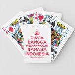 [Crown] saya bangga menggunakan bahasa indonesia  Playing Cards