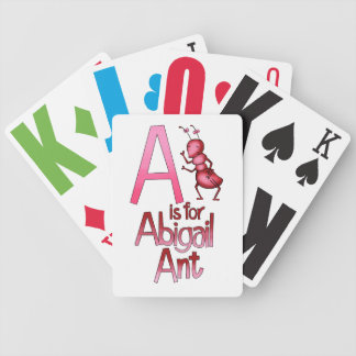 Playing Cards, A is for Abigail Ant Bicycle Playing Cards