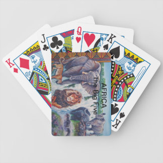 Playing Cards: AFRICA The Big Five Bicycle Playing Cards