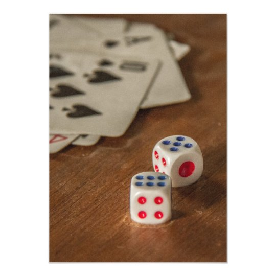 Playing Cards and Dice Invitation