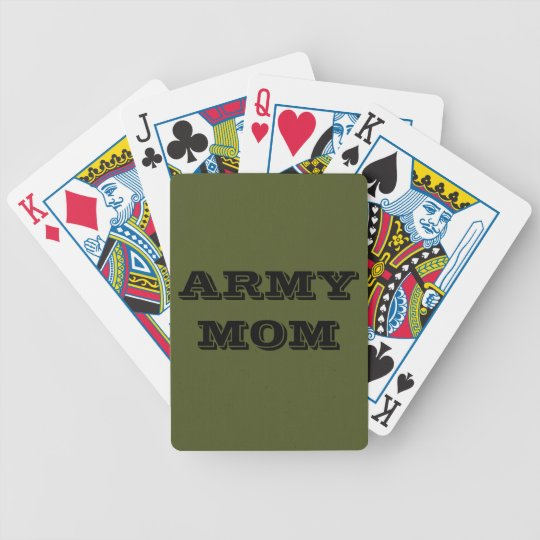 Playing Cards Army Mom
