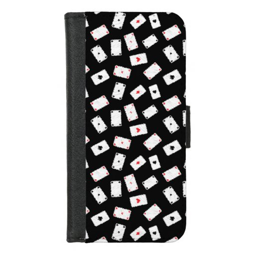 Playing cards artistic design iPhone 8/7 wallet case