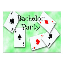 Playing Cards Bachelor Party Invitation