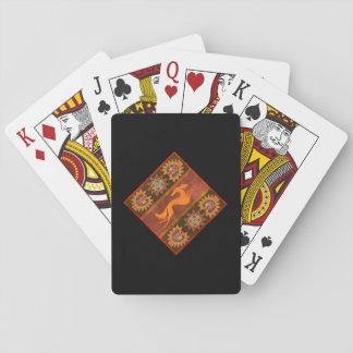 "Playing cards back ""Saluki"