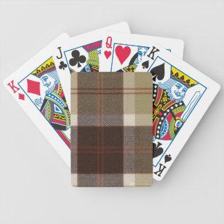 Playing Cards Bannockbane Tartan Print