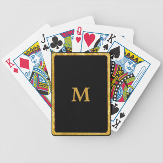 Playing Cards-Black and Gold Monogram