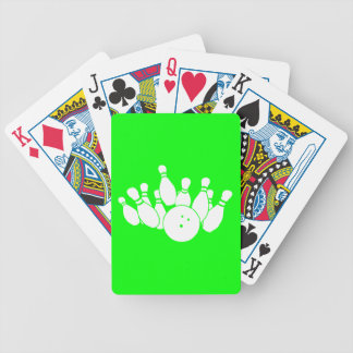 Playing Cards Bowling Silhouette Green