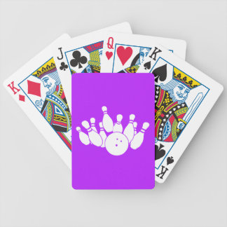 Playing Cards Bowling Silhouette Purple