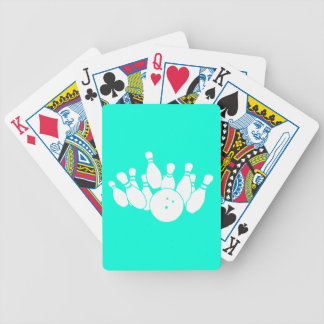 Playing Cards Bowling Silhouette Turquoise