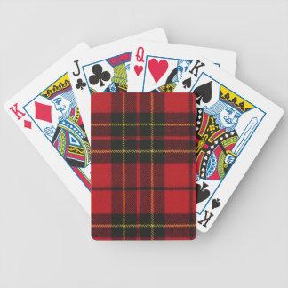 Playing Cards Brodie Red Modern Tartan Print