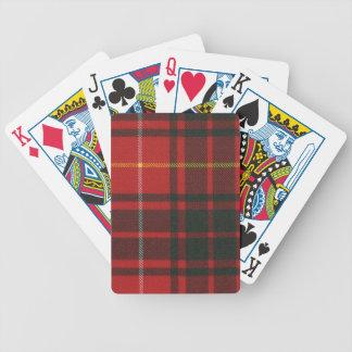 Playing Cards Bruce Modern Tartan Print