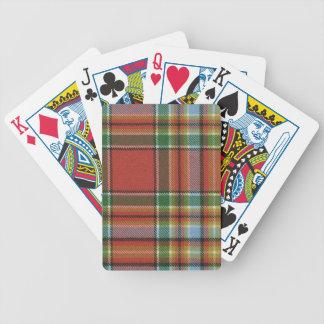 Playing Cards Chattan Ancient Tartan Print
