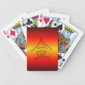 Playing Cards: Chinese Kanji for Gold / Money: 金 Bicycle Playing Cards