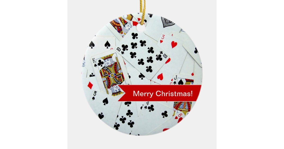 playing cards christmas ornament zazzlecom - Christmas Card Games